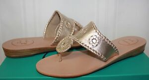 fc5daf3efa230 Jack Rogers Capri mini wedge Navajo Women s Sandals Platinum New ...