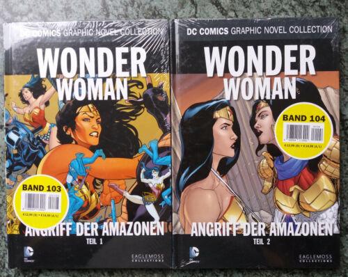 DC Comics Graphic Novel Collection WONDER WOMAN Teil 1 2  Band 103 104 Folie