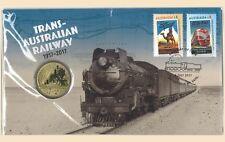 Trans - Australian Railway 1917 - 2017 PNC Stamp & $1 UNC Coin Cover Perth Mint