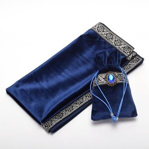 Altar-Tarot-Table-Cloth-Pouch-Tablecloth-Blue-Decor-Divination-Square-Wicca