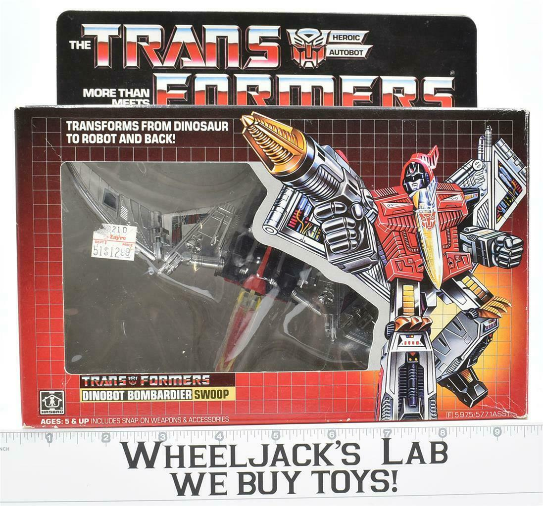Swoop MIB 100% Complete 1985 Vintage B Hasbro Action Figure G1 Transformers
