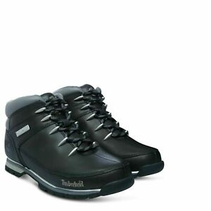 Timberland-6200R-Euro-Sprint-Mens-Leather-Hikers-Hiking-Boots-Shoes-Black-Size