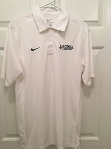 Virginia UVA Cavaliers Women's Basketball Team Issued Nike White Polo Small
