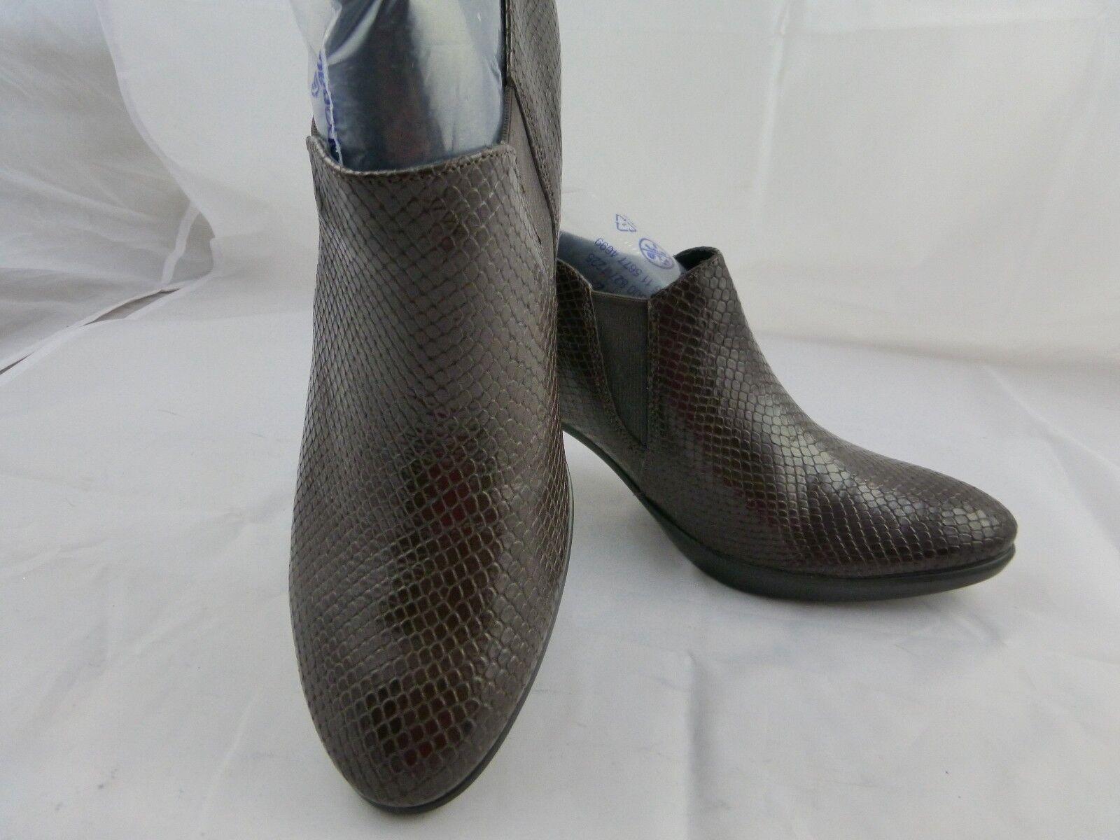 Ecco Leder shoe/boots shootie Braun, Größe 41/9.5-10 NEU