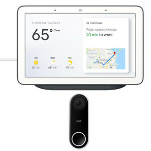 Google-Home-Hub-with-Google-Assistant-GA00515-US-w-Nest-Wi-Fi-Video-Doorbell