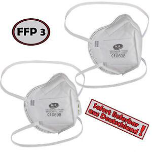 ALPIDEX Mundschutz FFP3 Maske Atemschutzmaske Filterleistung 99% FFP 3