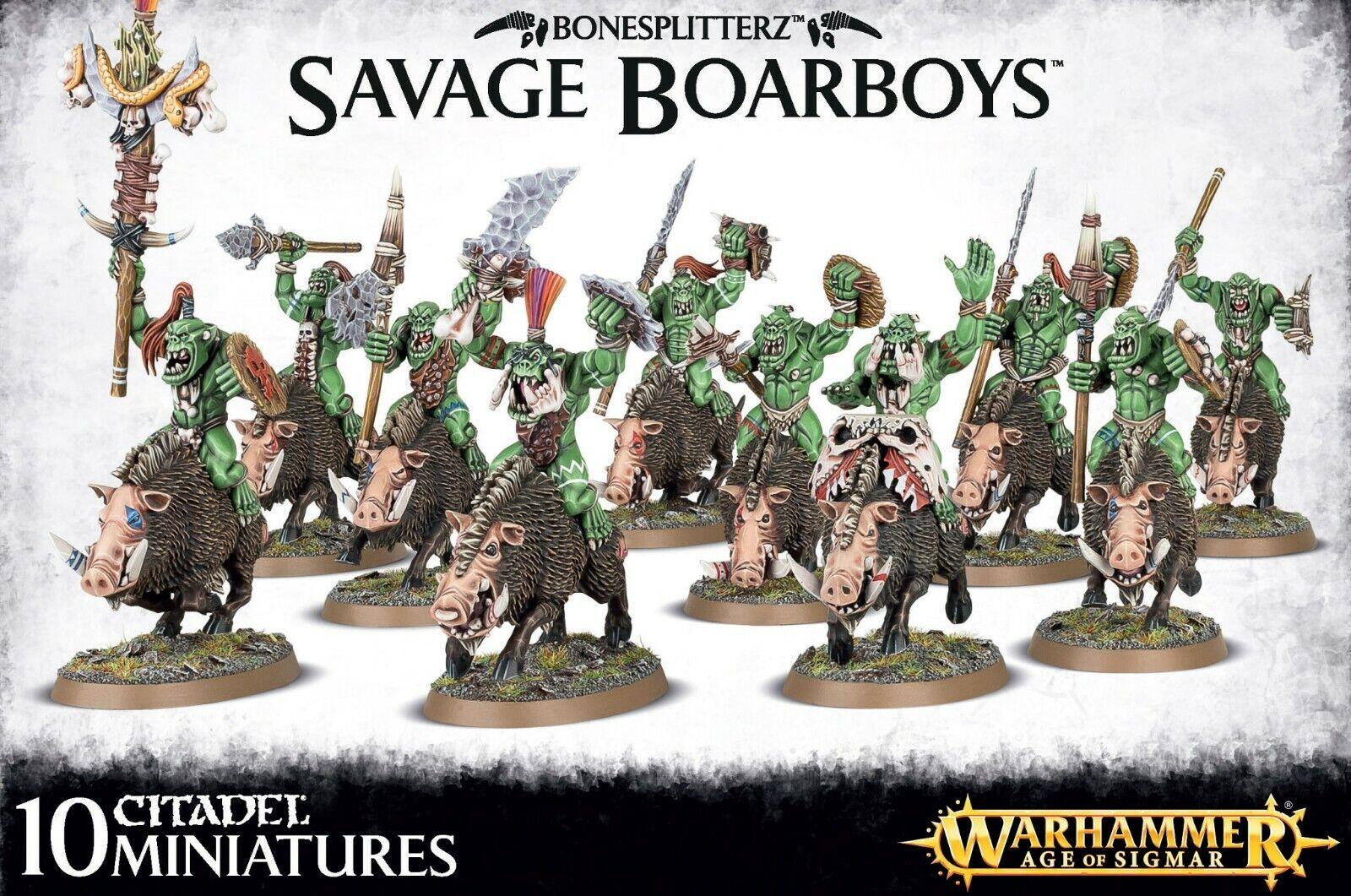 Warhammer Age of Sigmar  Bonesplitterz Savage Boarboys 89-20