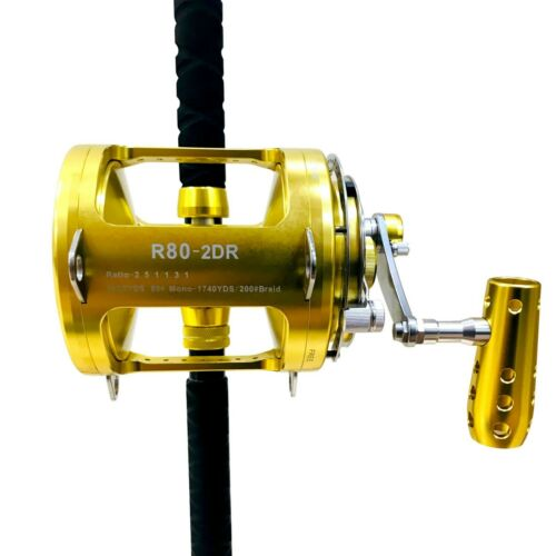 EatMyTackle 80 Wide Reel on Blue Marlin Tournament Edition Rod