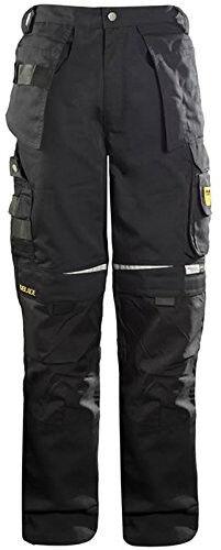 Abundante Dblade Multibolsillos Hombre Pantalones De Trabajo Negro Pantalones Ropa De Trabajo En14404 Certificado Por La Ce-ver Alto EstáNdar En Calidad E Higiene