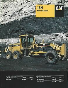 Equipment-Brochure-Caterpillar-16H-Motor-Grader-1994-E3769