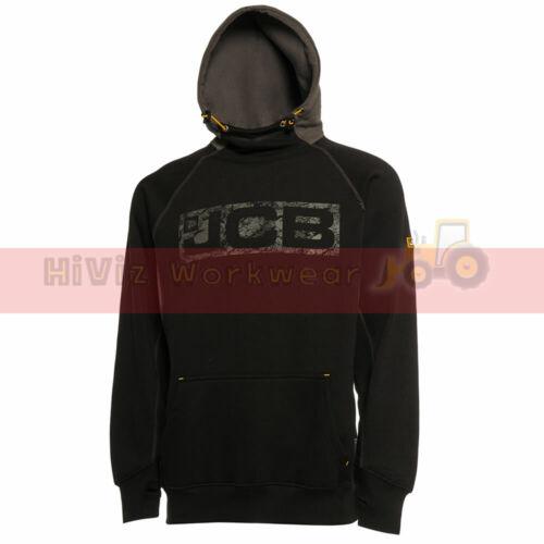Mens JCB Hoody Work Wear HORTON Heavyweight Hooded Top Hoodie Sweatshirt Snood