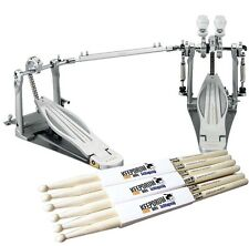 TAMA HP910LWN Speed Cobra Doppelpedal Fußmaschine + KEEPDRUM Sticks 3 Paar