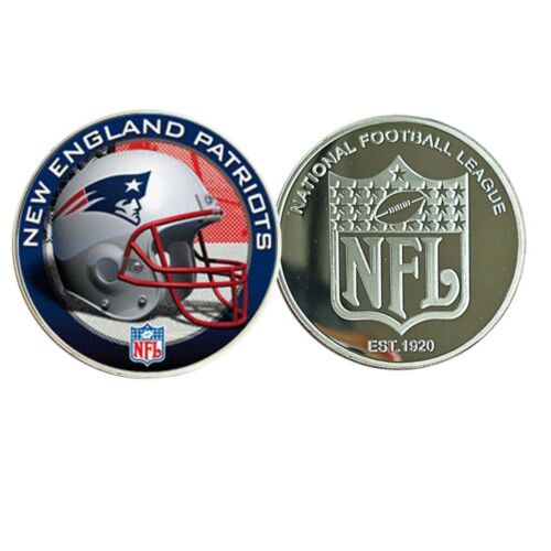NEW ENGLAND PATRIOTS NFL Metal Coin 999.9 Silver Plated Challenge Coin Crafts