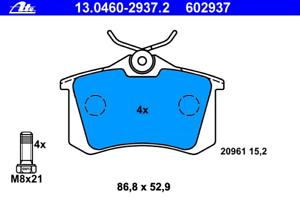 Bremsbelagsatz Scheibenbremse ATE 13.0460-2937.2