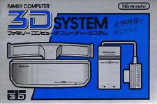 Nintendo Famicom 3D System Glasses Family Computer Nes Accessory Free shipping