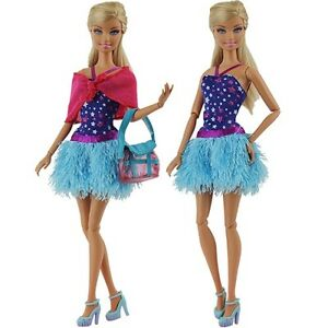 Fashion-Evening-Party-Clothes-Wears-Dress-Outfit-For-Barbie-Doll-Gift-Xmas-Gift