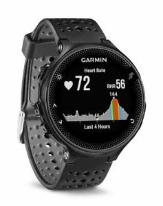 Garmin-Forerunner-235-Running-Watch-Heart-Rate-Wrist-Glonass-GPS-Black-Gray-New