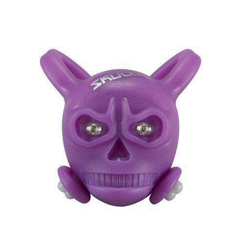 SKULLY Skull LED Front//Rear Detachable Light 2 x Red LED/'s Purple