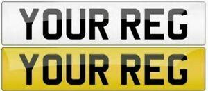 Front Standard Plain MOT UK Road Legal Car Van Reg Registration Number Plate