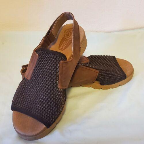Women's Size 37 Worishofer Brown Leather Sandals C