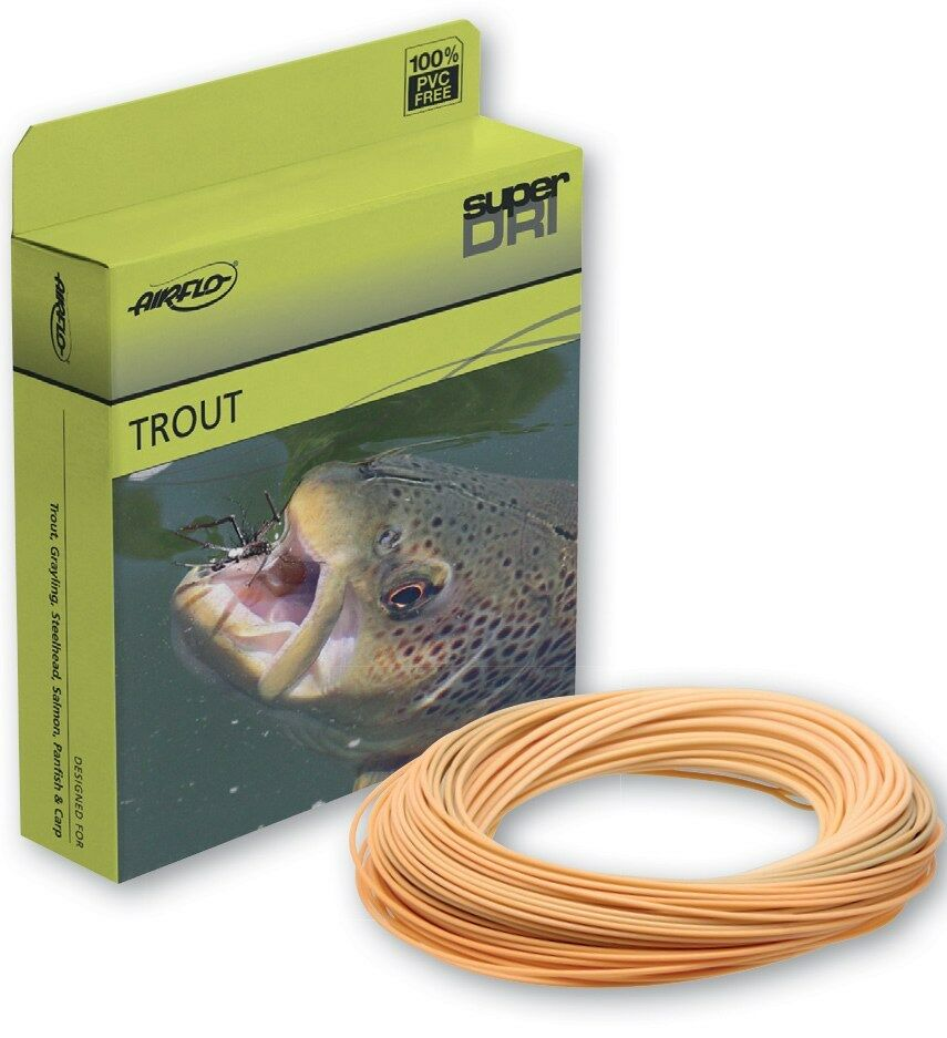 AIRFLO SUPER DRI XCEED WF-4-F WT PUMPKIN WEIGHT FORWARD FLOATING FLY LINE