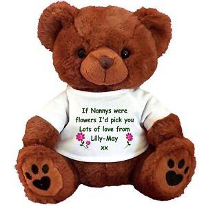PERSONALISED BROWN TEDDY BEAR  MOTHER'S DAY NAN MUM NANNA GRANDMA NANNY MUMMY(1)