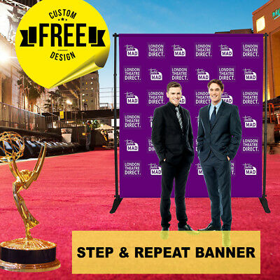 Details about  /Custom Step and Repeat Banner 10/'x7/' FT 6 GUEST Photoshoot Telescopic UV PRINT