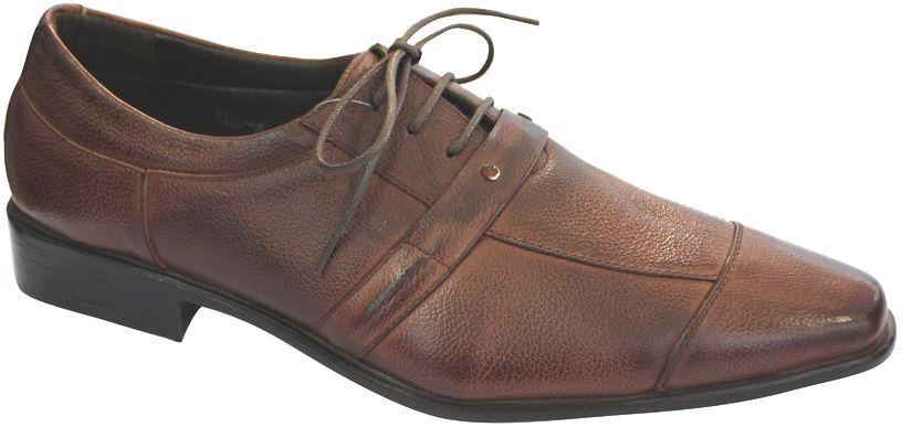 shoes CUIR men A LACETS RICHELIEU brown-COGNAC (MT-KT80-3)