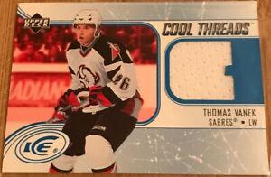 2005-06-Upper-Deck-Ice-Cool-Threads-Thomas-Vanek-CT-TV-Buffalo-Sabres