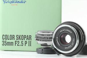 Unused-VOIGTLANDER-COLOR-SKOPAR-35mm-F2-5P-II-VM-Lens-for-Leica-M-Mount-Japan