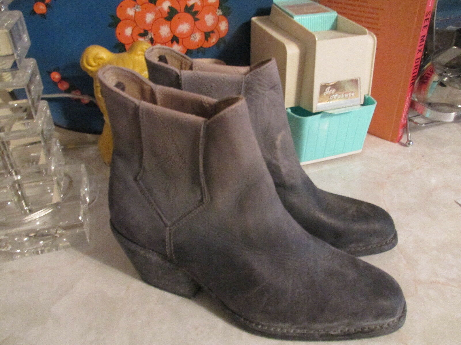 Faryl Robin + Free People Black  Williams (Dover) Ankle Boots Size 7 NWOB