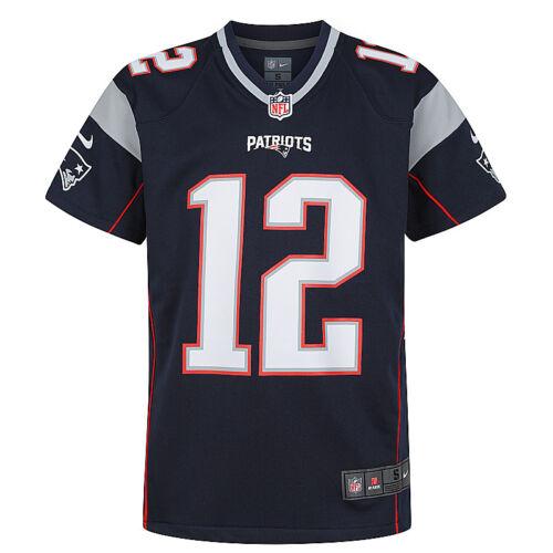 Jersey Navy Youth Nike NFL New England Patriots Tom Brady #12 Game Team