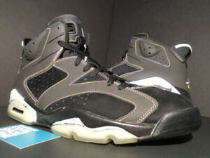 on sale 6fb9a b08f7 Image is loading NIKE-AIR-JORDAN-VI-6-RETRO-LAKERS-BLACK-
