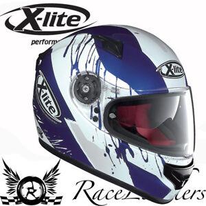 X Lite X661 Spox Cayman Bleu Casque Moto Liquidation Vente Pas Cher