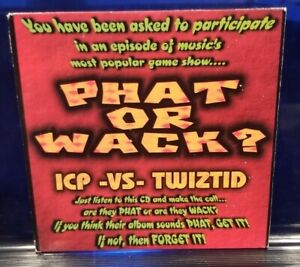 Insane Clown Posse / Twiztid - Phat or Wack 2nd Press CD Sampler dark lotus icp