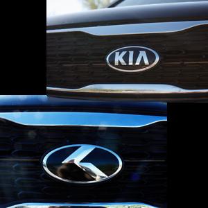 "2pc METAL SKIN /""K/"" Emblem Badge OVERLAY FOR KIA Sorento 2016 2017 2018 2019"