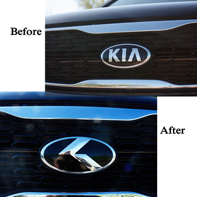 "2pc SET /""VINTAGE K/"" METAL SKIN Emblem Badge OVERLAY FOR KIA OPTIMA 2016-2019"