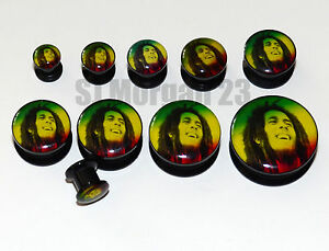 Bob-Marley-Ear-Ring-Plug-Stretcher-in-Sizes-6-8-10-12-14-16-18-20-22-25-mm