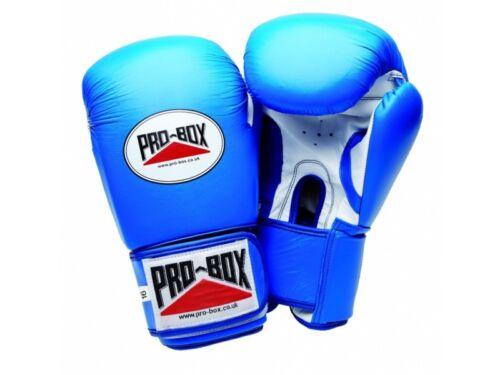 Pro Box Super Spar Blue Leather Boxing Gloves