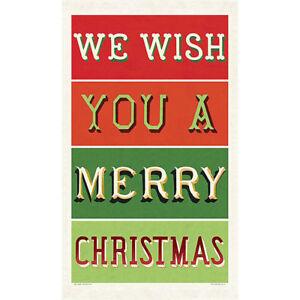 Noel Christmas Cotton Tea Towel Cavallini /& Co Vintage Tea Towel