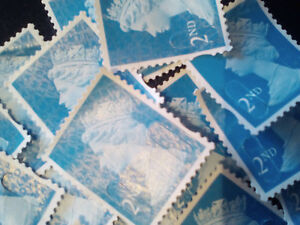 100-x-2nd-class-unfranked-postage-stamps-off-paper-no-gum