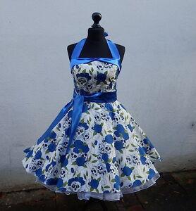 c50ee0c30f4340 Das Bild wird geladen 50er-Petticoat-Rockabilly-Party-Punk-Emo-Totenkopf- Rosen-