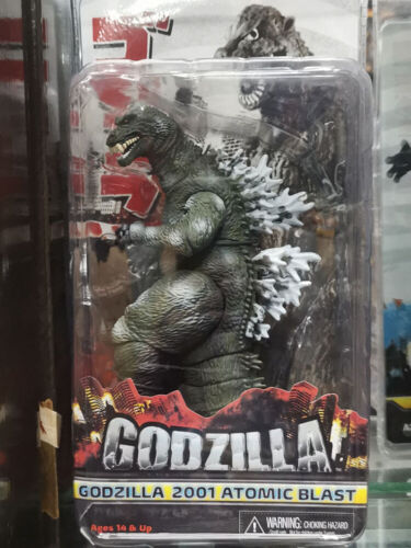 "Godzilla 2001 Atomic Blast Godzilla 7/"" Action Figure in Box"