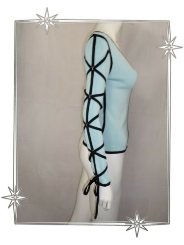 2 Très Taille Etincelle Couture Ruban Bleu Sexy Beau Fantaisie A Haut Noir 6nqPvqg