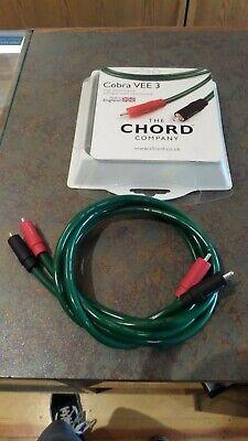 Chord Cobra VEE3 Subwoofer Cable 1m