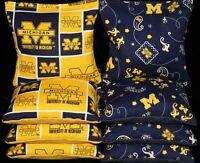 Cornhole Bean Bags W University Of Michigan Wolverines Fabric Regulation Game