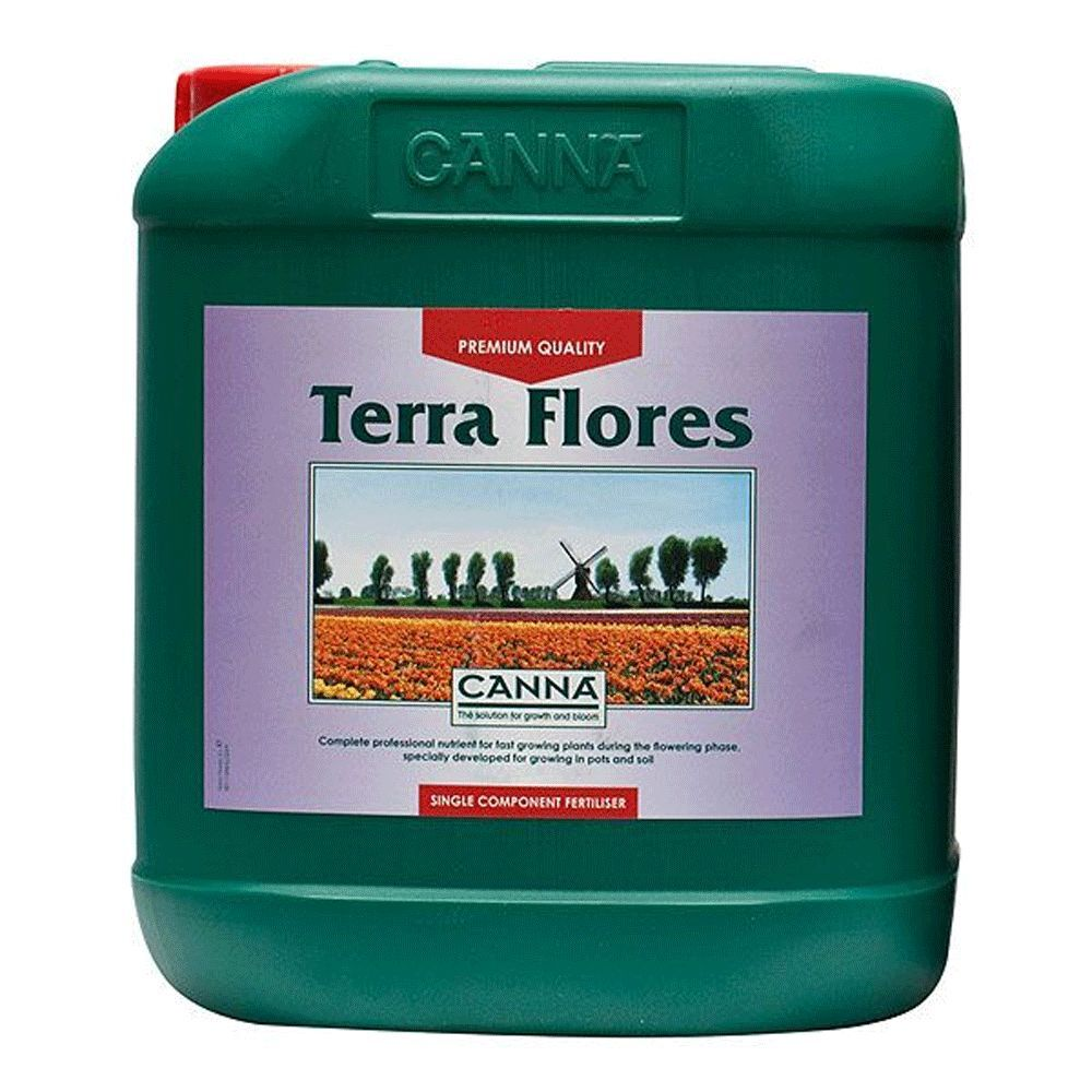 CANNA TERRA FLORES 5L FERTILIZZANTE FIORITURA FLOWERING BLOOM FERTILIZER  g
