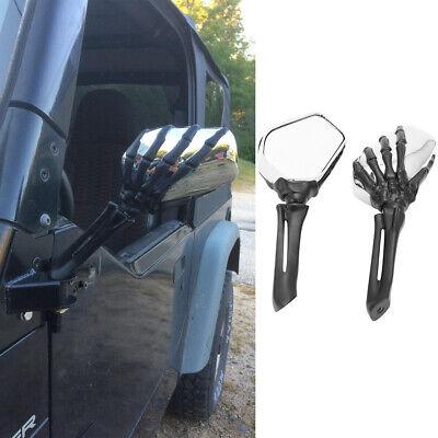skeleton hand skull side mirrors door off hinge mirrors for jeep wrangler jk jku ebay skeleton hand skull side mirrors door off hinge mirrors for jeep wrangler jk jku ebay