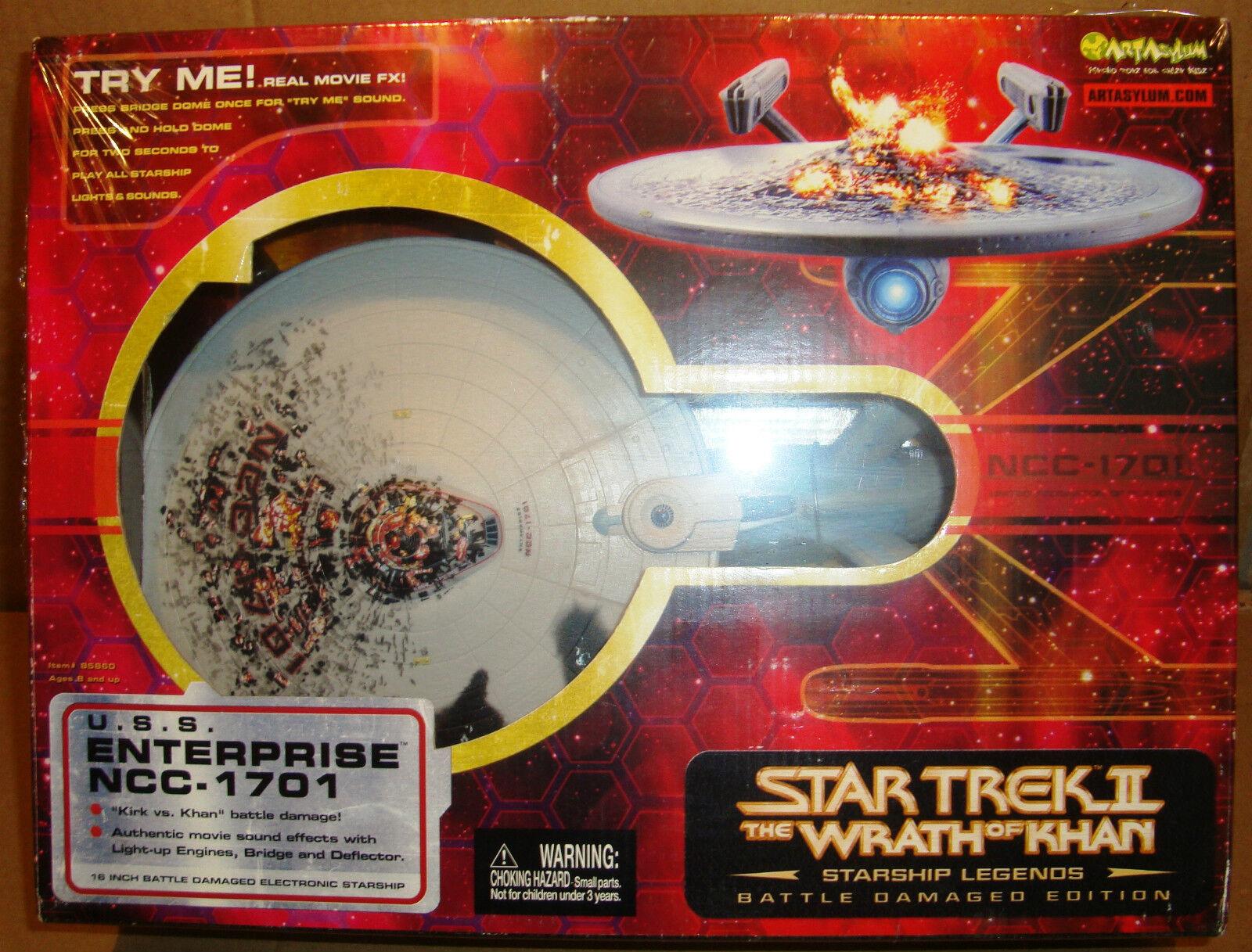en venta en línea Estrella TREK II U.S.S. ENTERPRISE NCC-1701 BATTLE DAMAGE EDITION EDITION EDITION 16  ART ASYLUM  ¡No dudes! ¡Compra ahora!