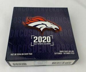 Turner-Licensing-2020-Calendars-Denver-Broncos-Desk-Calendar-with-Full-Color